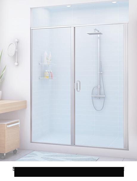 Semi-Frameless Door and Panel Enclosure